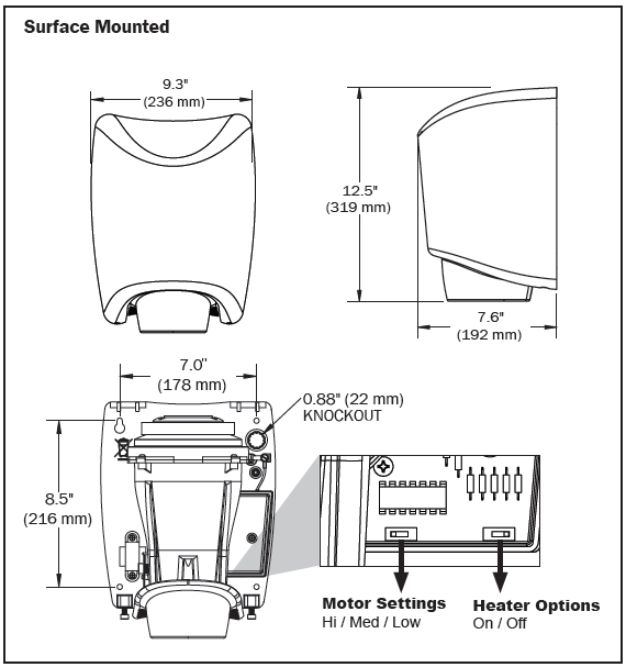 world dryer smartdri hand dryer smartdri mounting diagram