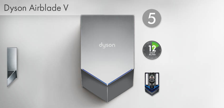 dyson airblade v series model hu02 hand dryers. Black Bedroom Furniture Sets. Home Design Ideas