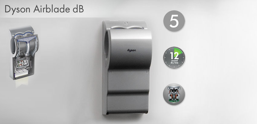 dyson airblade db series model ab14 hand dryers. Black Bedroom Furniture Sets. Home Design Ideas