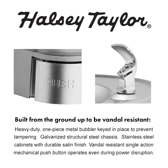 Halsey Taylor Bi-level Architectural Drinking Fountains with ... on