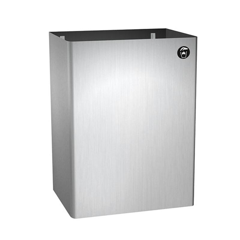 Asi traditional collection surface mount waste bin 10 0826 - Commercial bathroom waste receptacles ...