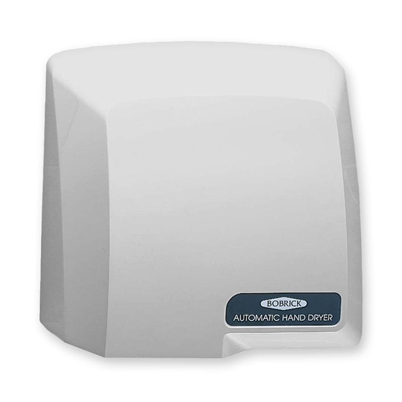 pale gray bobrick compacdryer b 710 automatic hand dryer