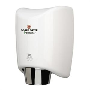 World Dryer SMARTdri K-974 (White SteriTouch cover) Adjustable speed and heat. Avail. in 110V/120V or 220V/240V.