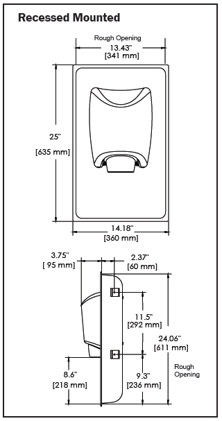 Smartdri recessed kit diagram