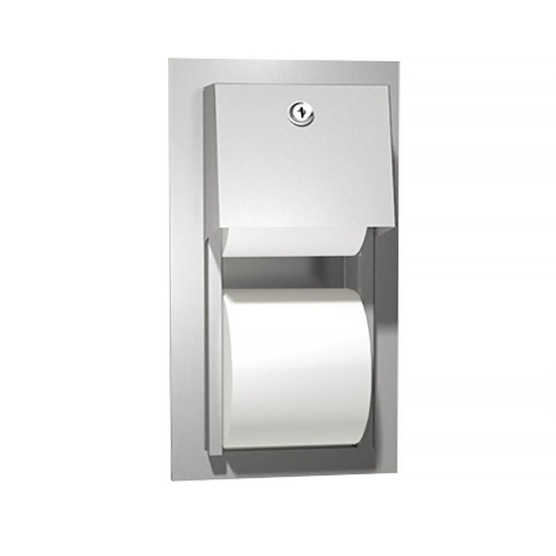 Asi 0031 Recessed Mount Stainless Steel Dual Roll Toilet