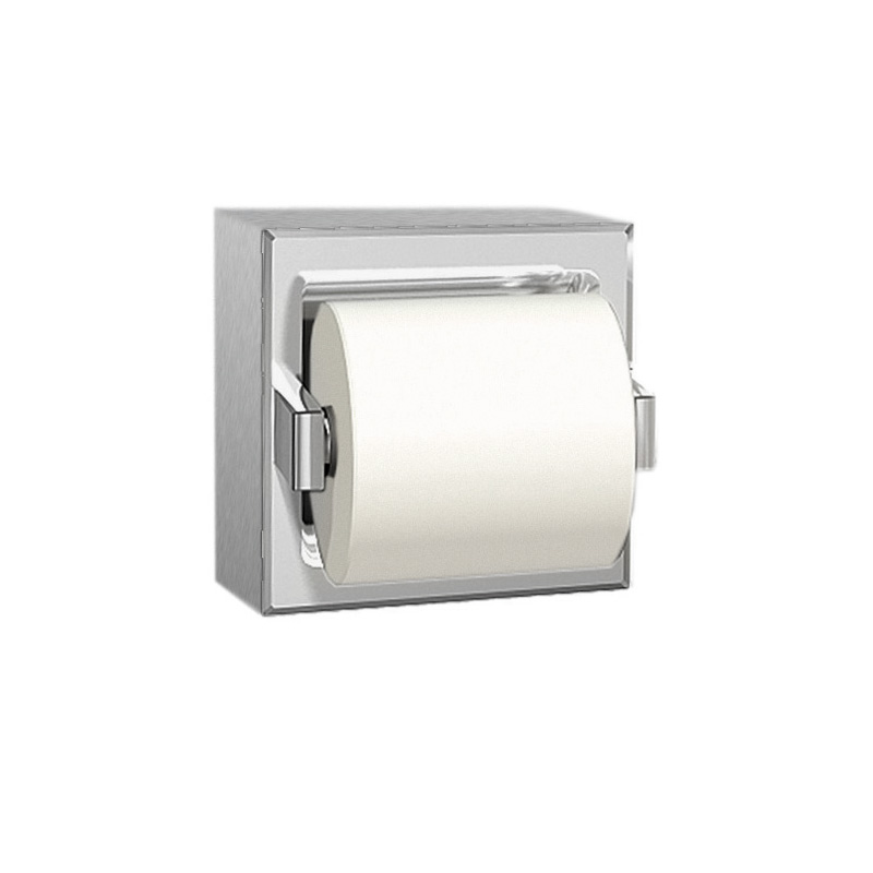 ASI 7402-SD Recessed Toilet Tissue Holder Satin Finish For Drywall