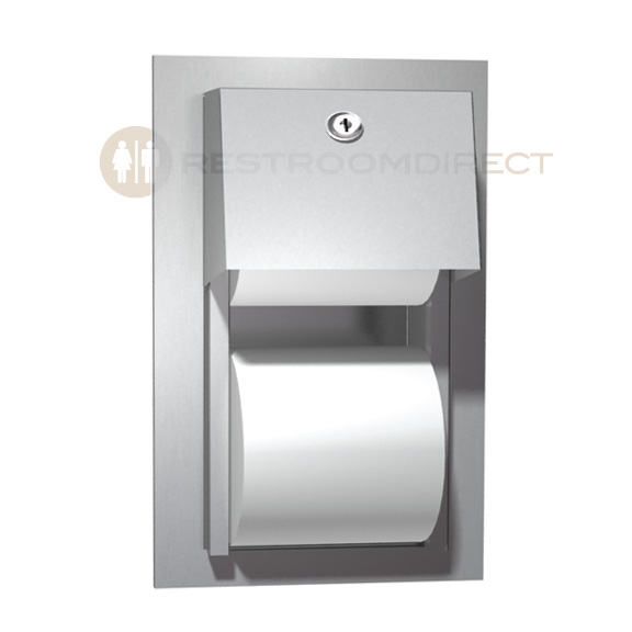 ASI 0031 Recessed Mount Stainless Steel Dual Roll Toilet Tissue ...
