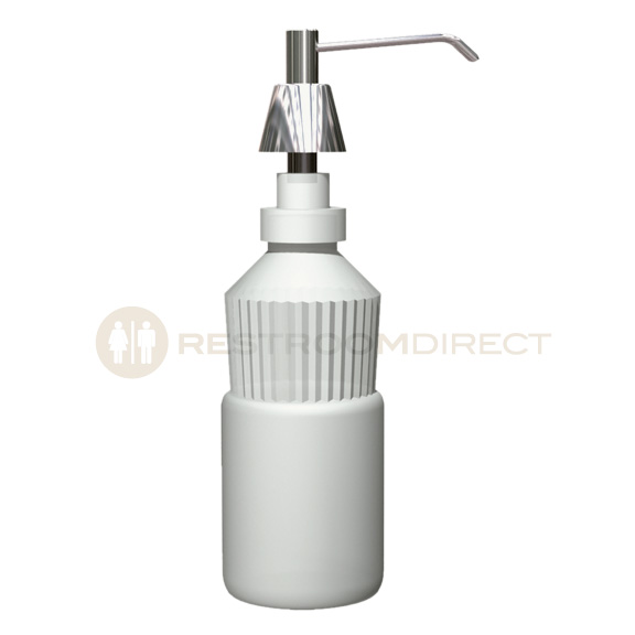 asi stainless steel deck mount push pump soap dispenser