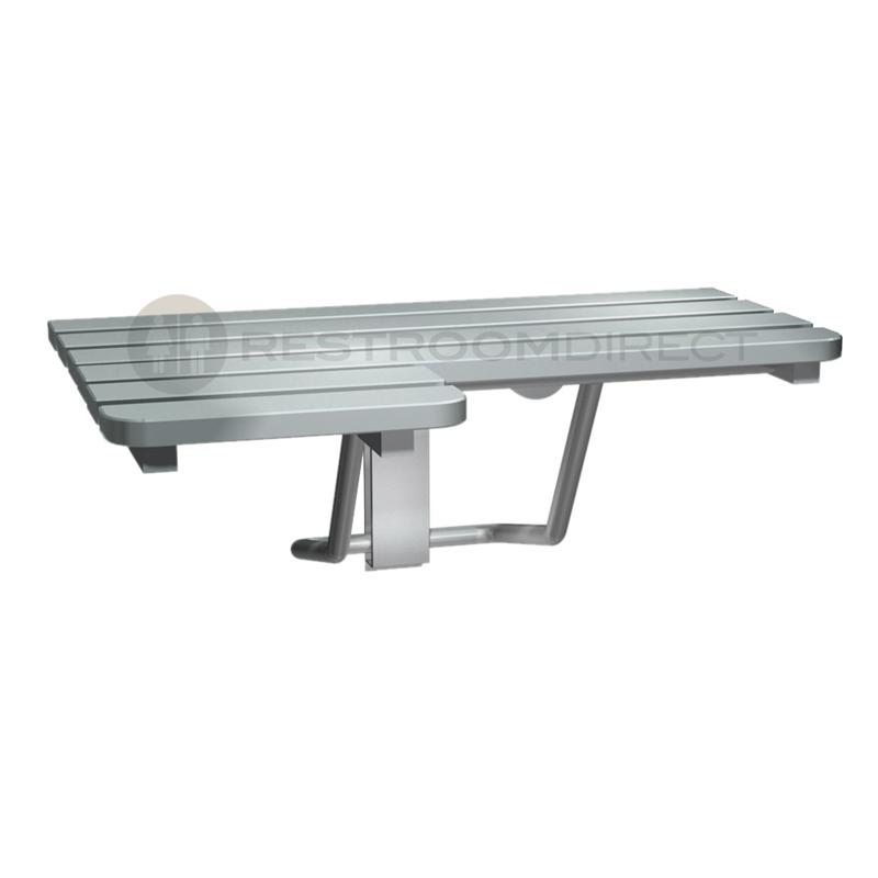 ASI 8208 Stainless Steel Folding Shower Seat (L-Shaped)