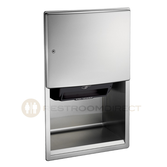Commercial Touchless Paper Towel Dispenser ~ Asi roval a recessed automatic towel dispenser