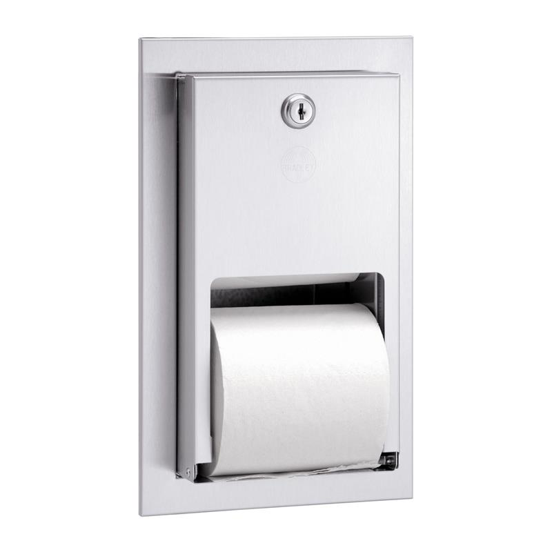 Bradley 5412 000000 Recess Mount Stacked Roll Toilet Paper Dispenser