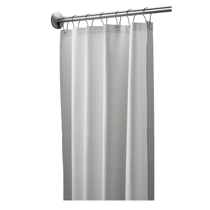 Bradley 9533-3672 Shower Curtain Liner, White Vinyl