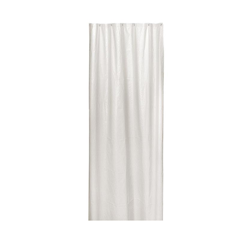 Bradley 9537-4872 Shower Curtain Liner, White PVC Vinyl