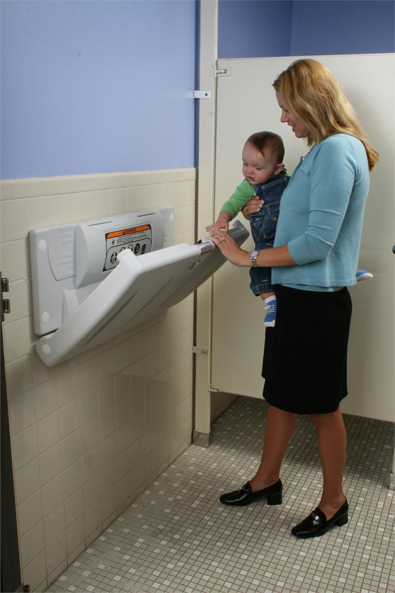 Bathroom baby changing station