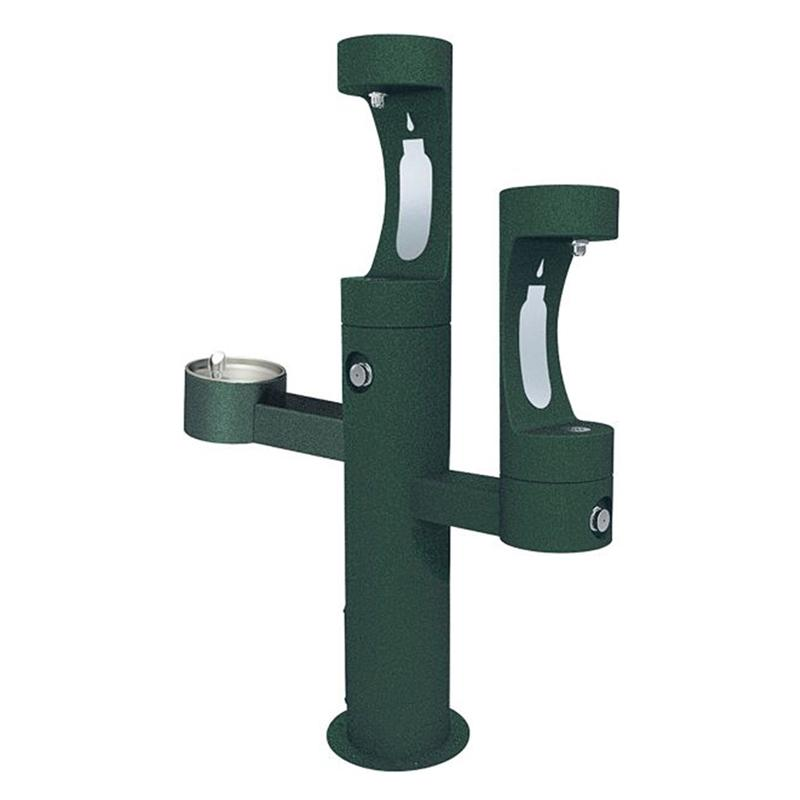 Elkay LK4430BF2 ADA Outdoor Drinking Fountain with 2 Bottle Fillers