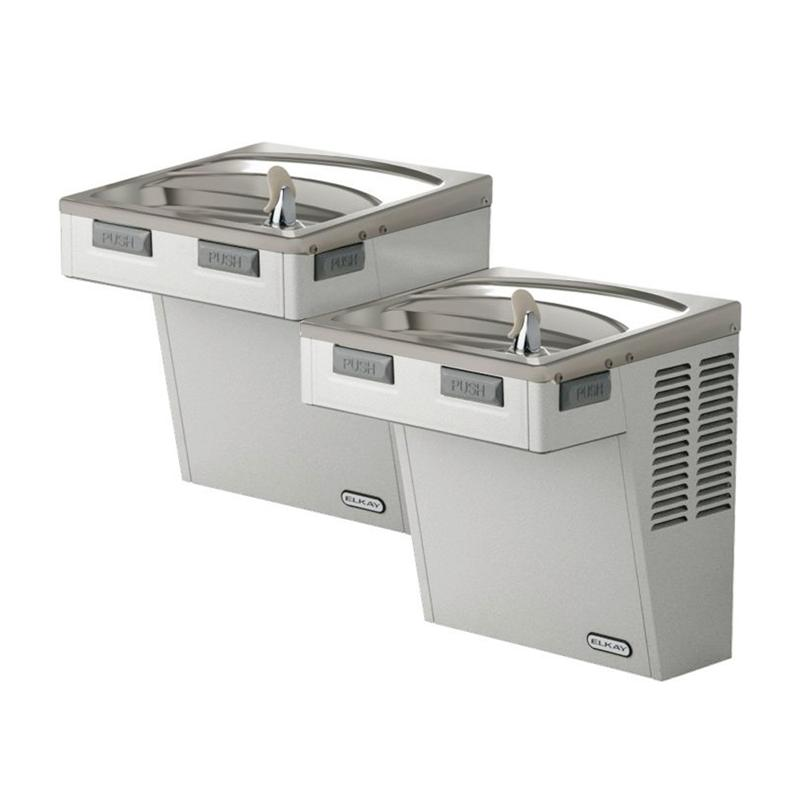 Elkay No Power ADA Bi-level Drinking Fountain (Not refrigerated ...