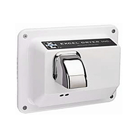 White Epoxy Paint Cast Cover Recessed Excel Dryer R76-IW Hand Dryer Hands Off 110-120V 60Hz Automatic