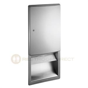 ASI   Roval 20452 Recessed C Fold / Multifold Paper Towel Dispenser