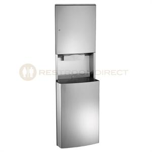 Asi Roval 20469 Recessed Paper Towel Dispenser C Fold Or Multifold And Waste Receptacle