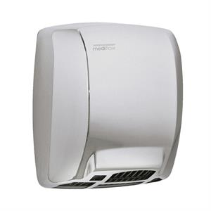 Compact, quiet, stainless steel hand dryer