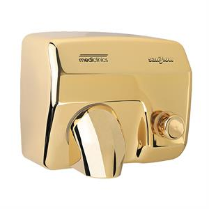 E88 Durable push button commercial hand dryer, golden chrome
