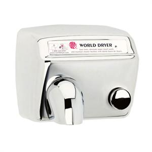 Durable, quiet, stainless steel commercial hand dryer.